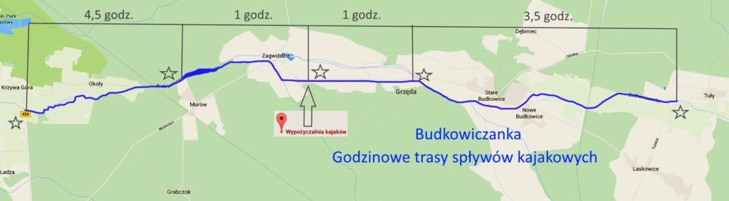 Mapa trasy Tuły - Krzywa Góra ver1